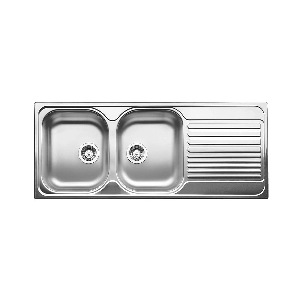 Blanco TIPO 8S Stainless Steel Equal Double Bowl Drop-in Kitchen Sink  (LH Bowl)