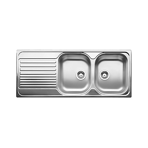 TIPO 8S Stainless Steel Equal Double Bowl Drop-in Kitchen Sink  (RH Bowl)