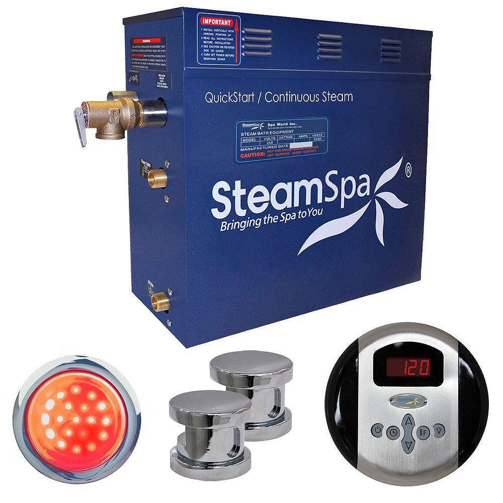 Steamspa Indulgence 12kw Steam Generator Package in Chrome