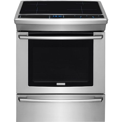 30-inch 4.6 cu. ft. Induction Slide-In Range with Self-Cleaning Convection Oven in Stainless Steel