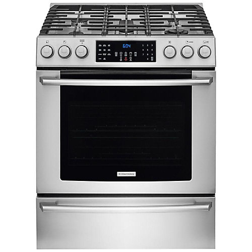 30-inch 4.5 cu. ft. Gas Front Control Freestanding Range in Stainless Steel
