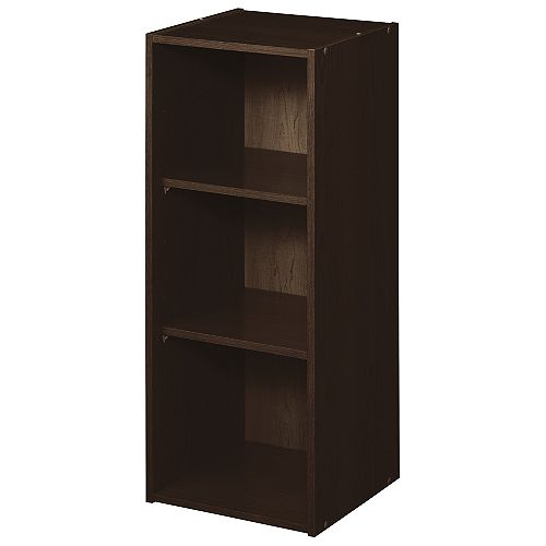 ClosetMaid 16 inch W x 44 inch H Decorative Espresso 3-Cube Organizer