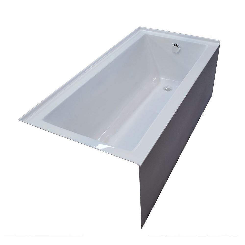Universal Tubs Amber 5 Feet Front Skirted Bathtub in White