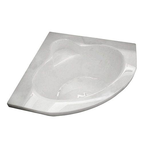 Jasper 5 Feet Corner Soaker Bathtub in White