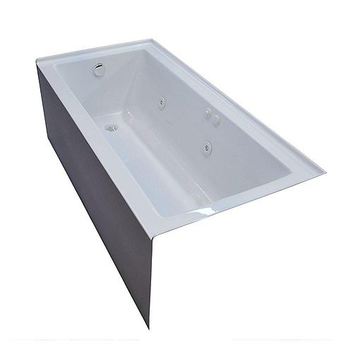Amber 5 Feet Front Skirted Whirlpool Bathtub with Left Drain
