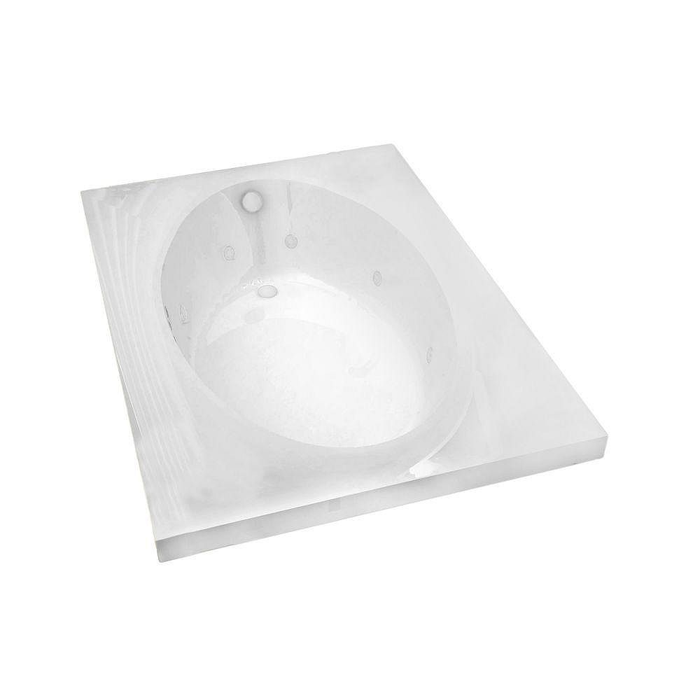 Universal Tubs Imperial 6 ft. Acrylic Drop-in Left Drain Rectangular Whirlpool Bathtub in White