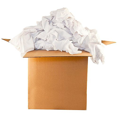 Contractor Box White Rags - 15 pound