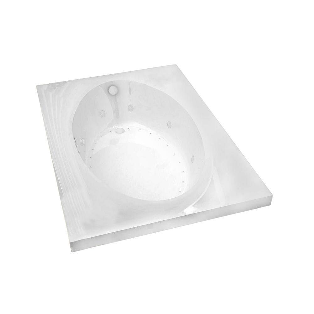 Universal Tubs Imperial Diamond 7 ft. Acrylic Drop-in Right Drain Rectangular Whirlpool and Air Bathtub in White