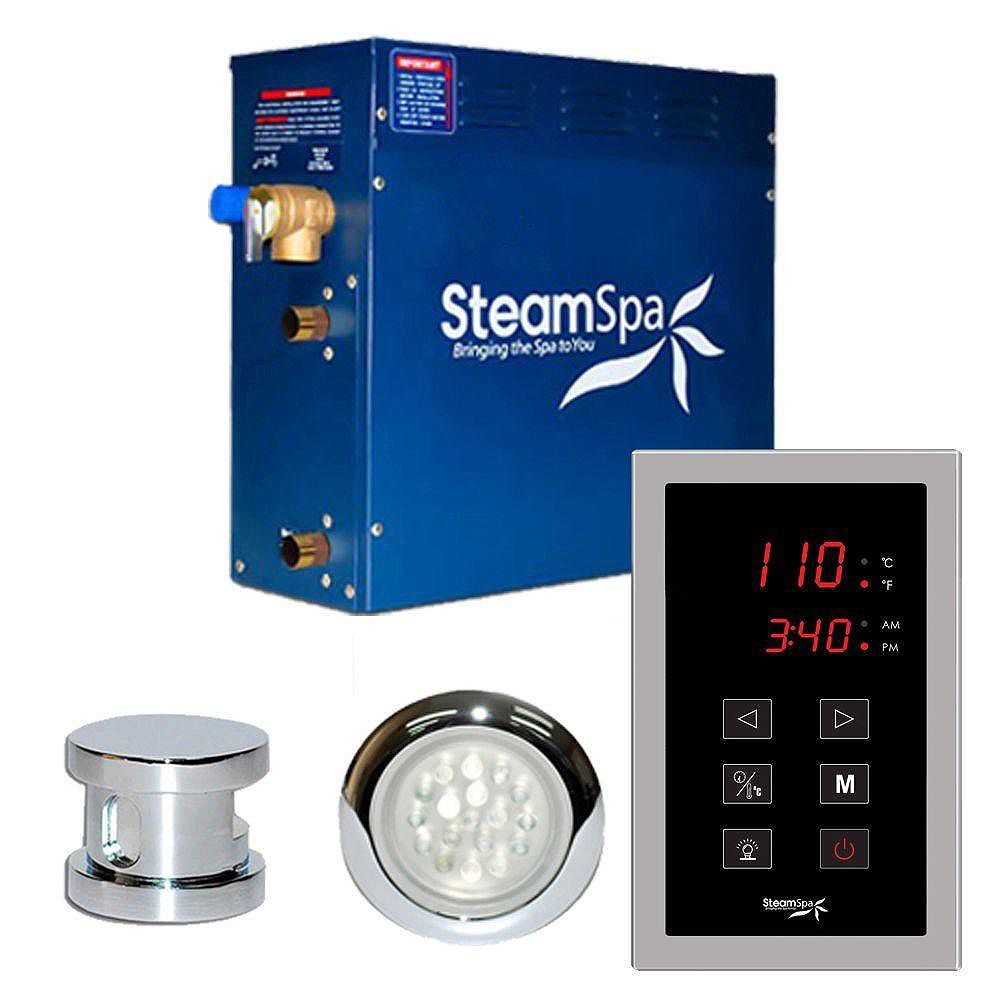 Steamspa Indulgence 9kw Touch Pad Steam Generator Package in Chrome