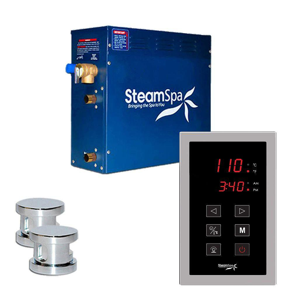 Steamspa Oasis 12kw Touch Pad Steam Generator Package in Chrome