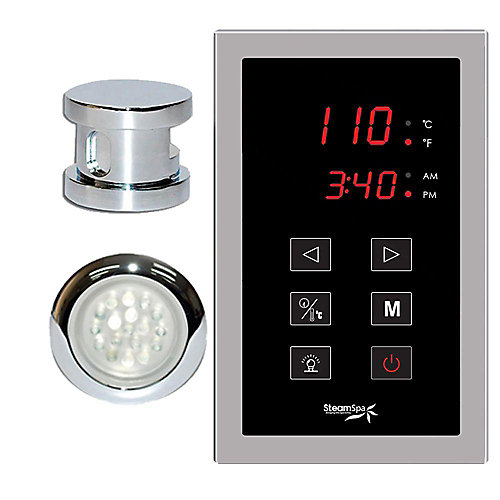 Indulgence Touch Pad Control Kit in Chrome