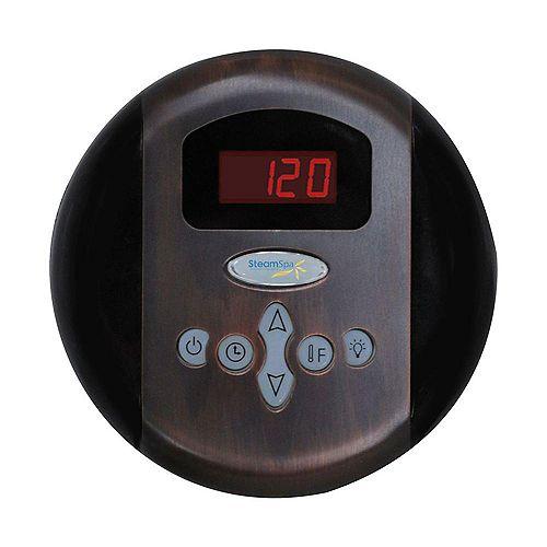 Panneau de commande programmable avec heure et température au fini de bronze huilé