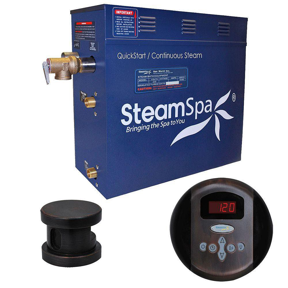 Steamspa Oasis 9kw Steam Generator Package in Oil Rubbed Bronze