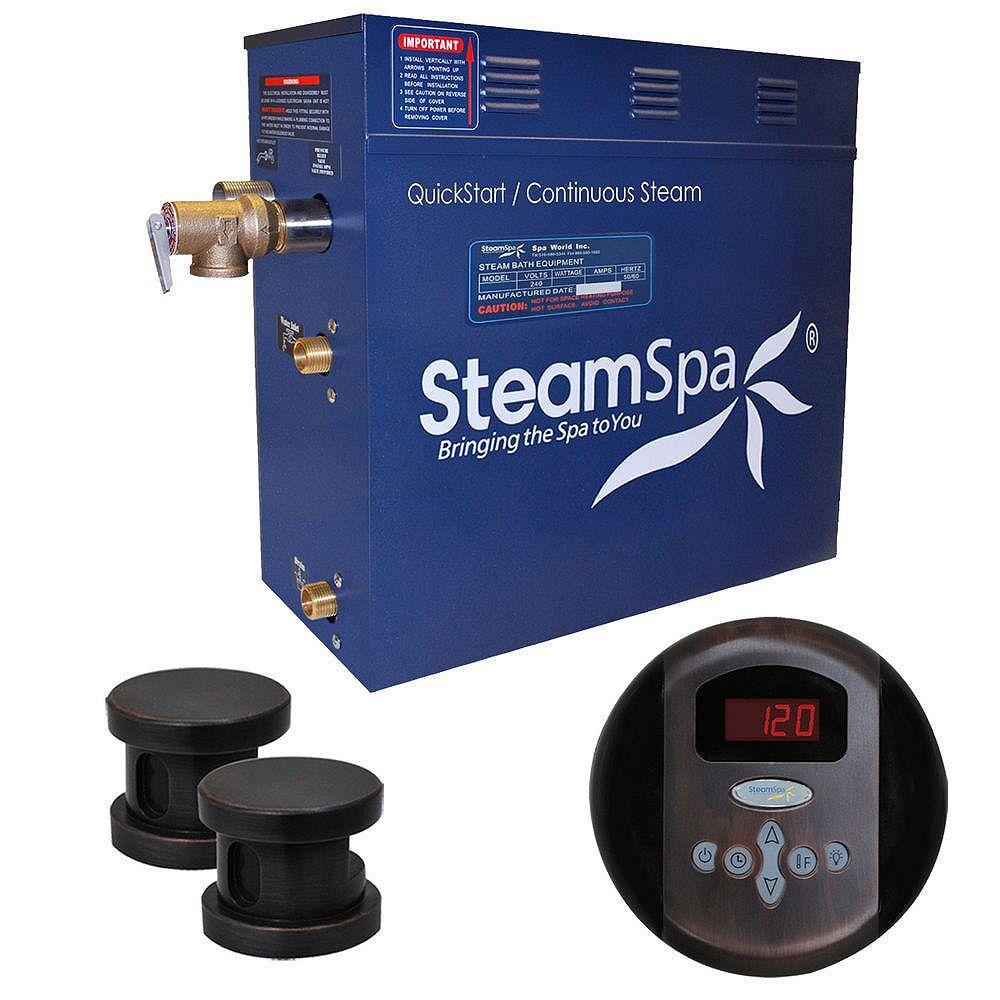 Steamspa Oasis 10.5kw Steam Generator Package in Oil Rubbed Bronze
