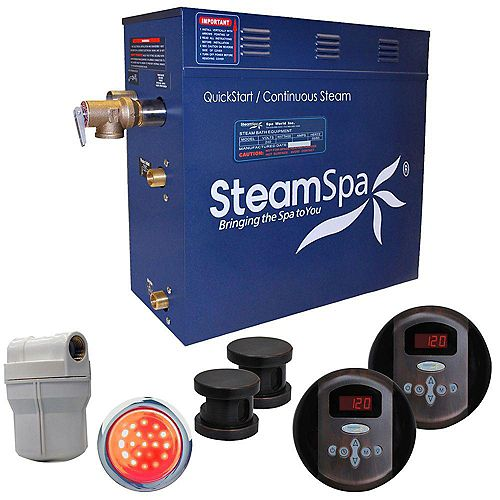 Royal 12kw Steam Generator Package in Oil Rubbed Bronze