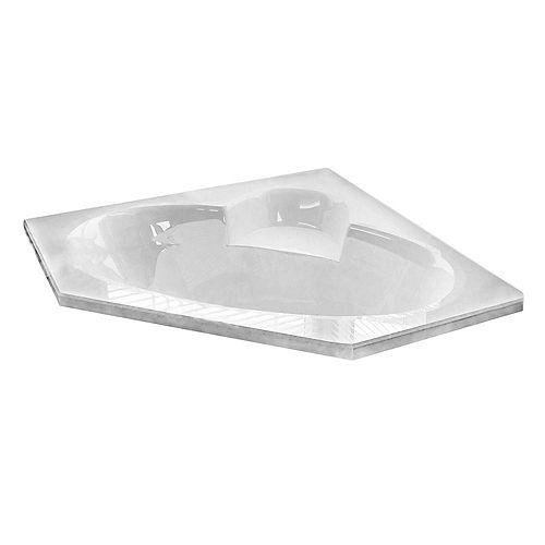 Malachite 5 Feet Corner Soaker Bathtub