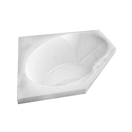 Mali 5 Feet Corner Soaker Bathtub