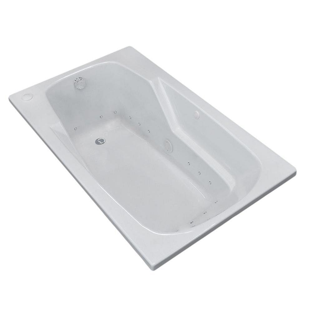 Universal Tubs Coral 5 Ft. Left Drain Walk-In Air Bathtub in White