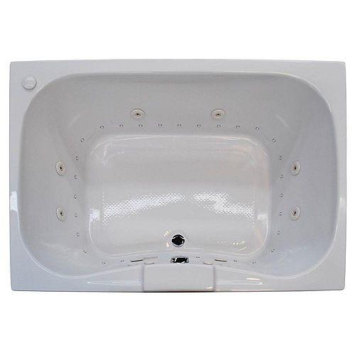 Universal Tubs Rhode 47.25 x 59 Baignoire De Massage À L'Air Et Par Jets Rectangulaire