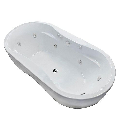 Agate 6 ft. Whirlpool Tub in White