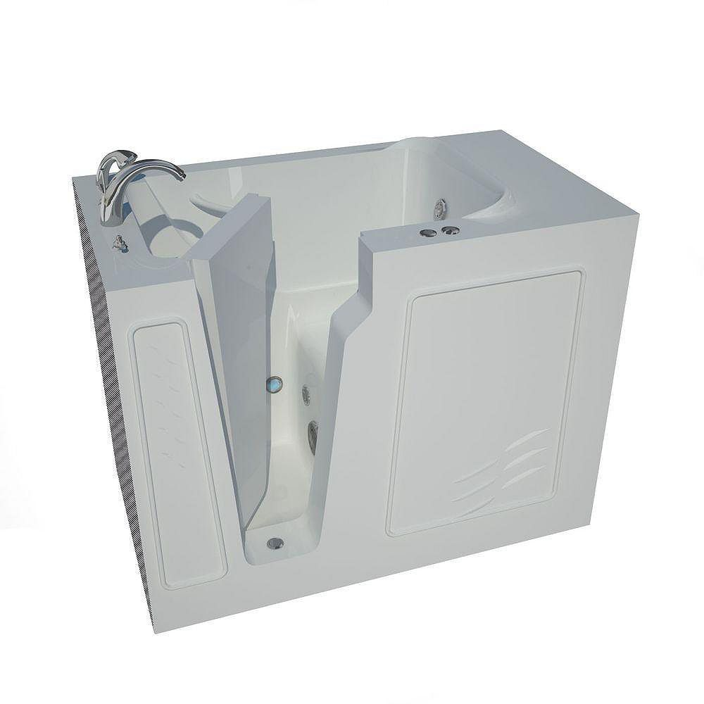 Universal Tubs 4 ft. 4-inch Left Drain Walk-In Whirlpool Bathtub in White