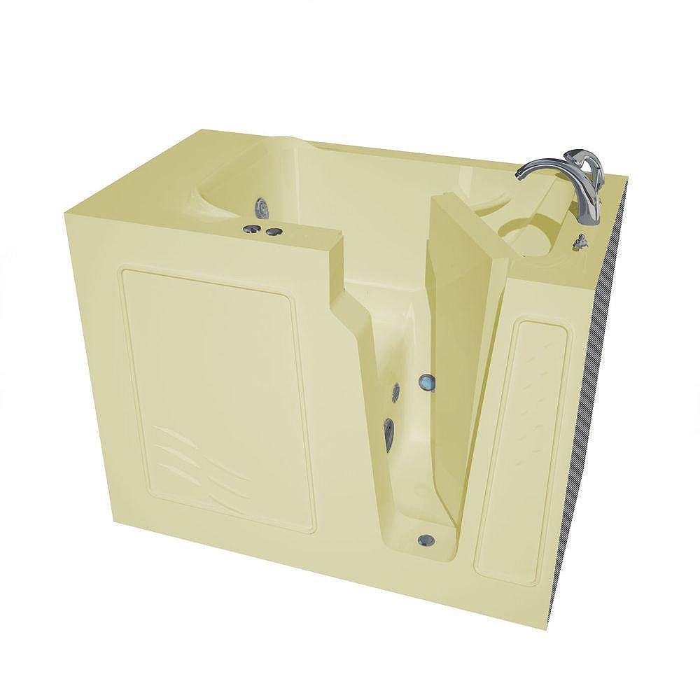 Universal Tubs 4 ft. 4-inch Right Drain Walk-In Whirlpool Bathtub in Biscuit