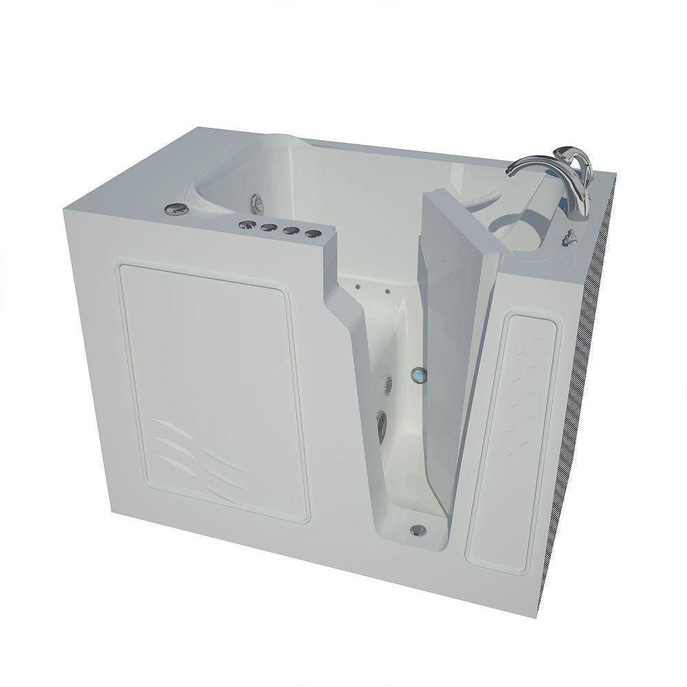 Universal Tubs 4 ft. 4-inch Right Drain Walk-In Whirlpool and Air Bathtub in White