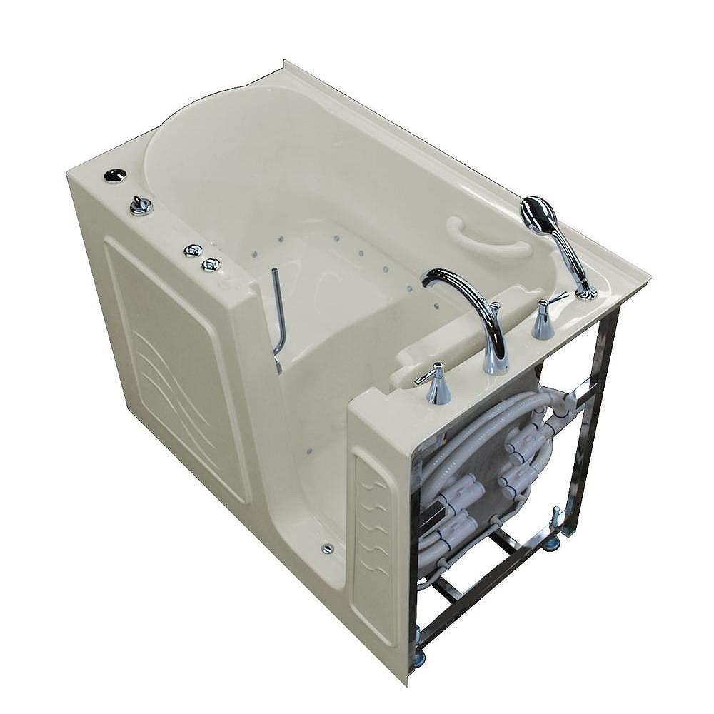Universal Tubs 4 ft. 5-inch Left Drain Walk-In Air Bathtub in Biscuit