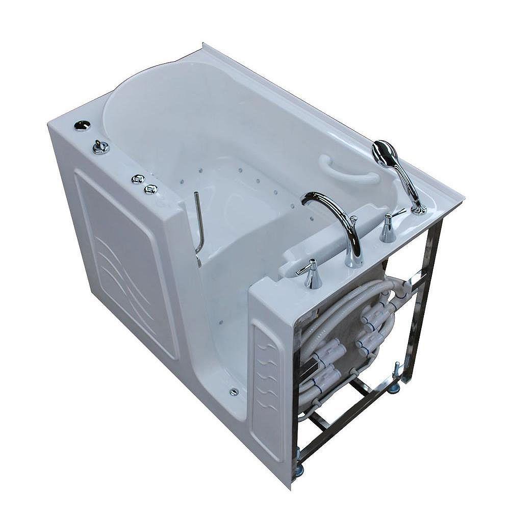 Universal Tubs 4 ft. 5-inch Right Drain Walk-In Air Bathtub in White