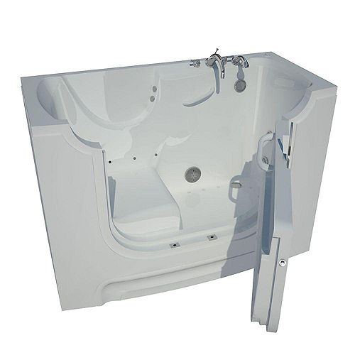 Universal Tubs 5 Ft. Wheelchair Accessible Right Drain Walk-In Air Bathtub in White