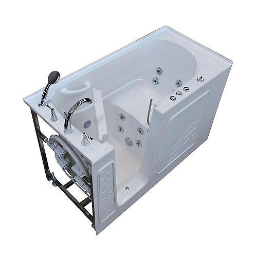 5 ft. Left Drain Walk-In Whirlpool Bathtub in White