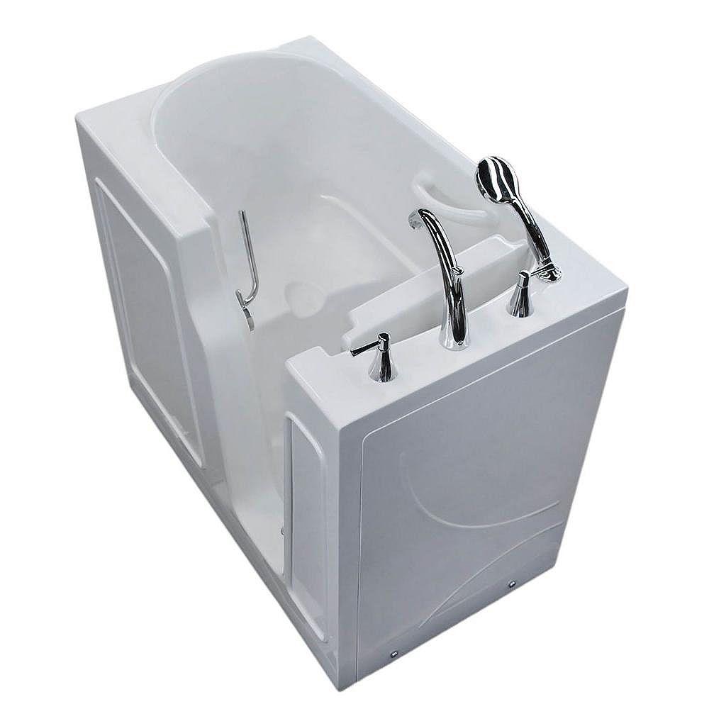 Universal Tubs 3.9 ft. Right Drain Walk-In Bathtub in White