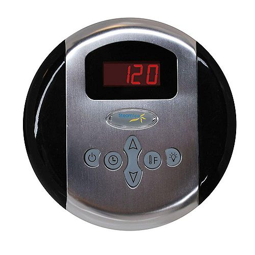 Steamspa Programmable Control Panel with Pre-sets in Brushed Nickel