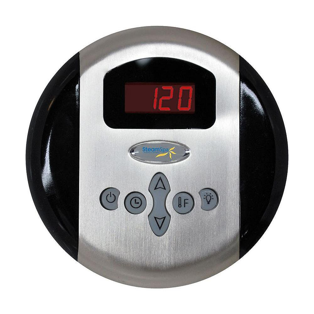 Steamspa Programmable Control Panel with Pre-Sets in Chrome