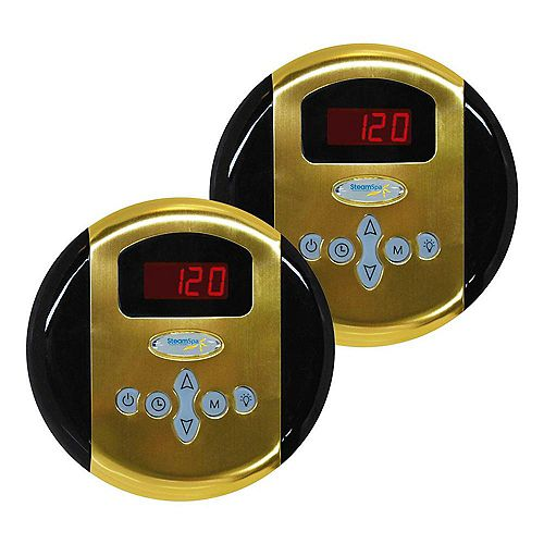 Programmable Dual Control Panels in Polished Brass