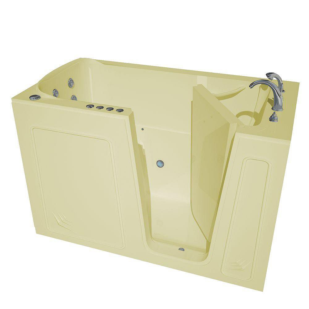 Universal Tubs 5 ft. Right Drain Walk-In Whirlpool and Air Bathtub in Biscuit