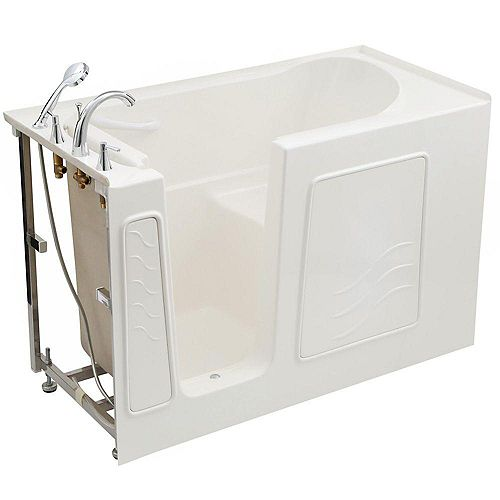 4.5 ft. Left Drain Soaking Walk-In Bathtub in White