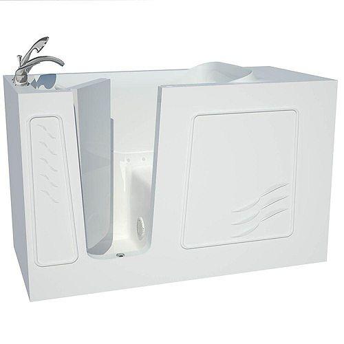 Universal Tubs 30 x 60 Baignoire De Massage À L'Air Et À Accès Latéral Avec Drain À Gauche Blanc