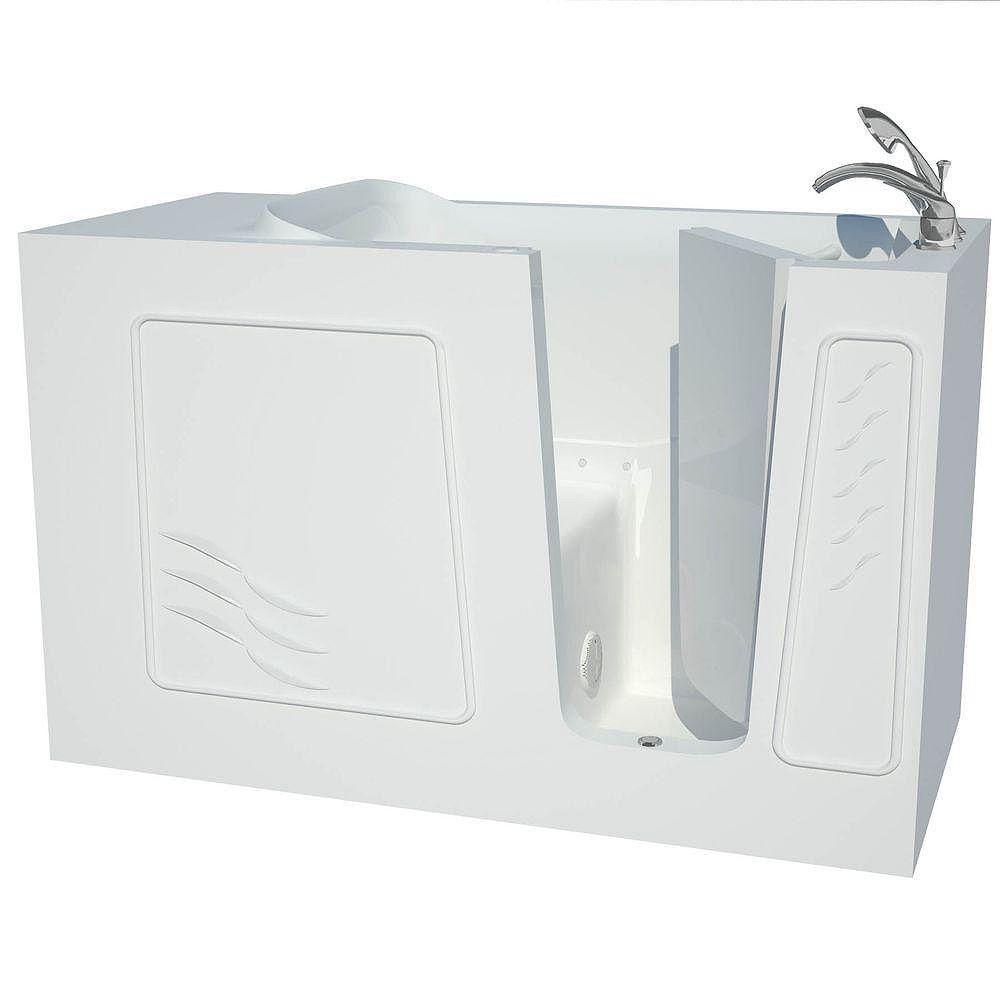 Universal Tubs 5 ft. Fiberglass Alcove Rectangular Right Drain Whirpool Walk-In Bathtub Air Massage in White