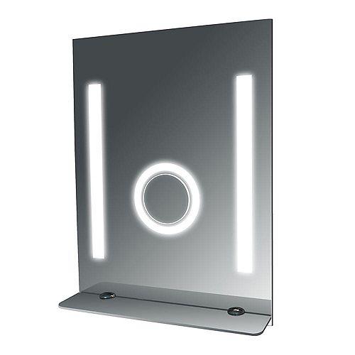 24-inch W x 32-inch L Fog Free Glass Shelf Wall Mirror