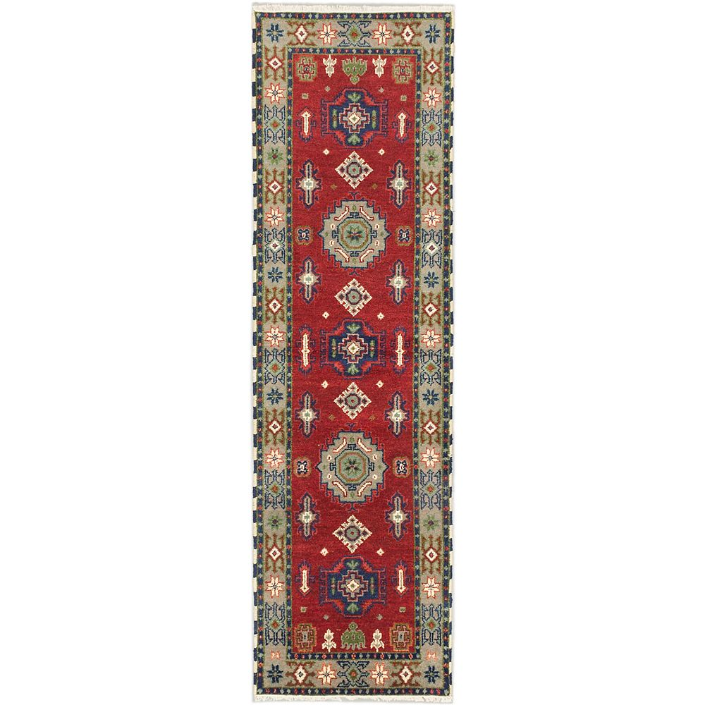 ECARPETGALLERY Hand-Knotted Royal Avery Red 2 ft. 9-inch x 9 ft. 9-inch Area Rug