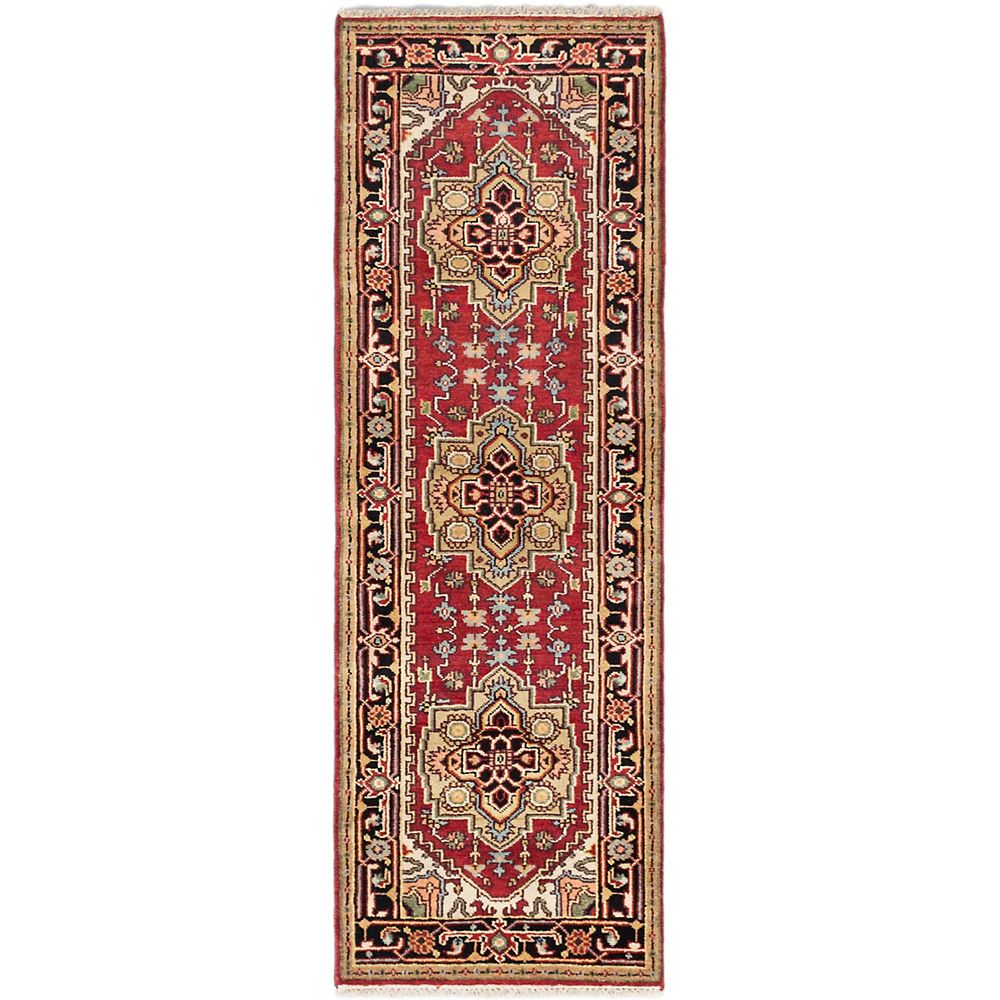 ECARPETGALLERY Hand-Knotted Batul Red 2 ft. 8-inch x 7 ft. 8-inch Area Rug