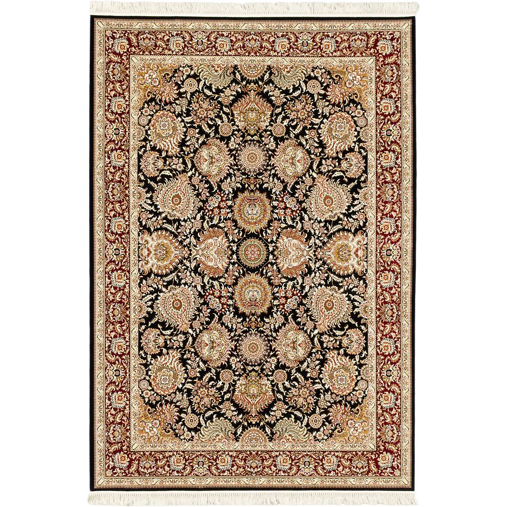 ECARPETGALLERY Hand Loomed King David Brown 7 ft. 10-inch x 11 ft. 2-inch Rectangular Area Rug