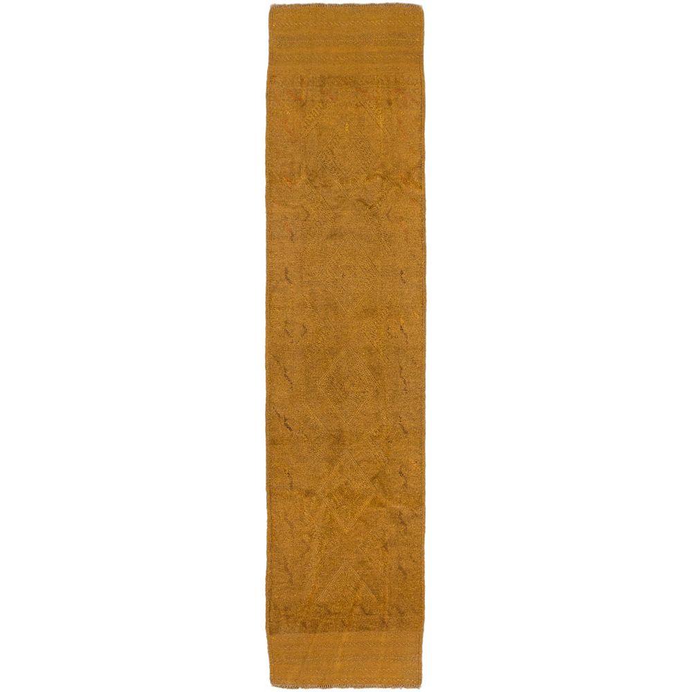 ECARPETGALLERY Tapis de passage, 2 pi x 8 pi 9 po, noué main, brun Tribeka