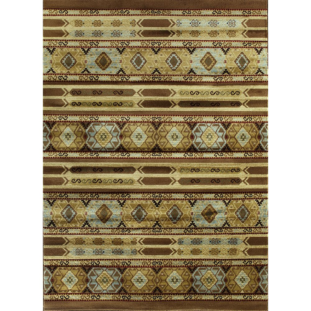 ECARPETGALLERY Carpette, 5 pi 5 po x 7 pi 5 po, rectangulaire, brun Ikat