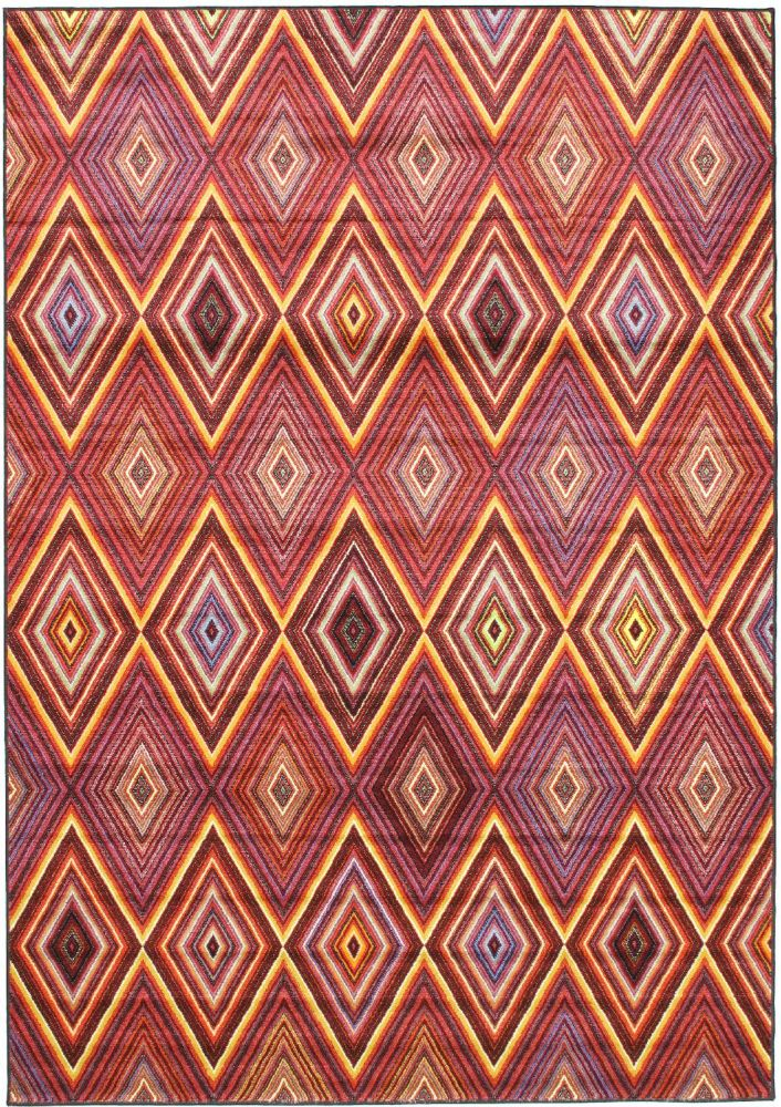 Chroma Red 6 ft. 7-inch x 9 ft. 6-inch Rectangular Area Rug