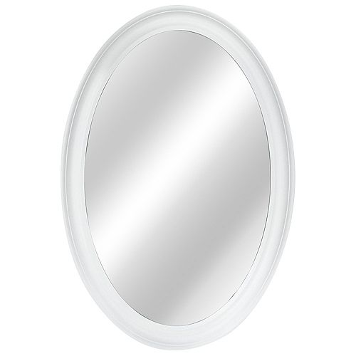 Home Decorators Collection 21-inch W x 31-inch L Framed Fog Free Wall Mirror in White