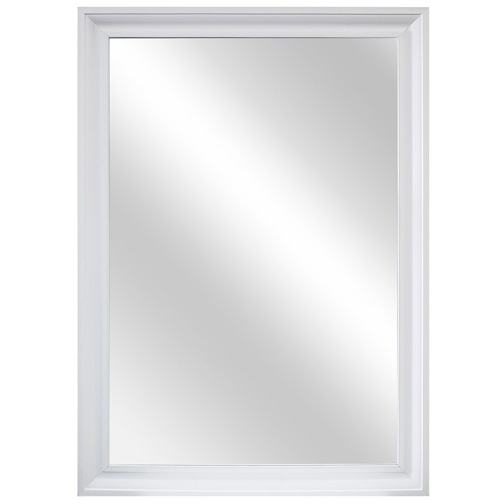 Home Decorators Collection 29-inch W x 40-inch L Framed Fog Free Wall Mirror in White