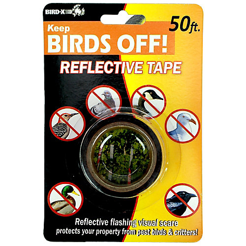 50 ft. Bird Red Scare Tape Protect Plants Flowers Bird Scare