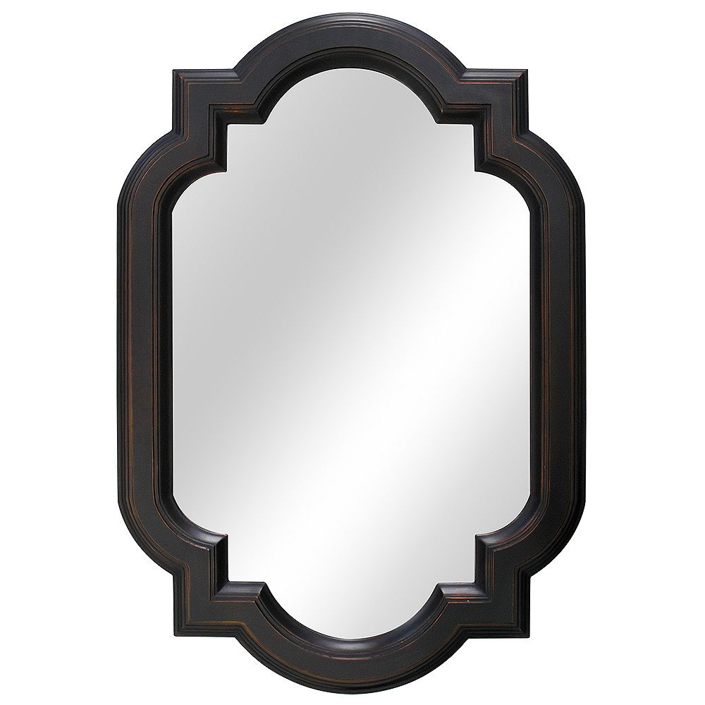 Home Decorators Collection 22-inch W x 32-inch L Framed Fog Free Wall Mirror in Oil Rubbed Bronze